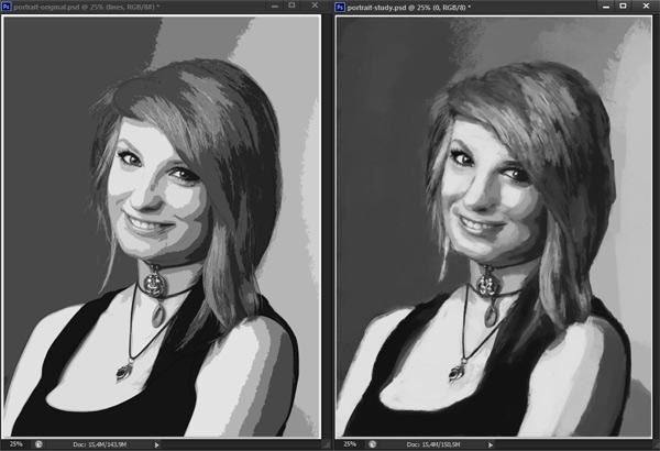 como praticar pintura em tons de cinza valor de referência photoshop 12
