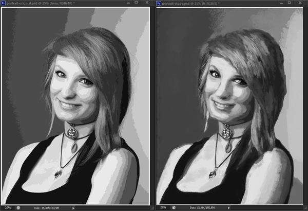 como praticar pintura em tons de cinza valor de referência photoshop 13