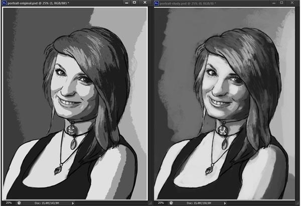 como praticar pintura em tons de cinza valor de referência photoshop 10
