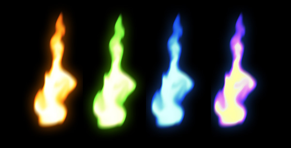 How to paint colorful flame photoshop digital 6