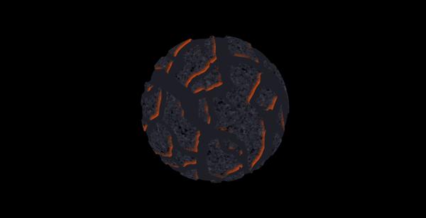 How to paint lava crack rock photoshop digital 10