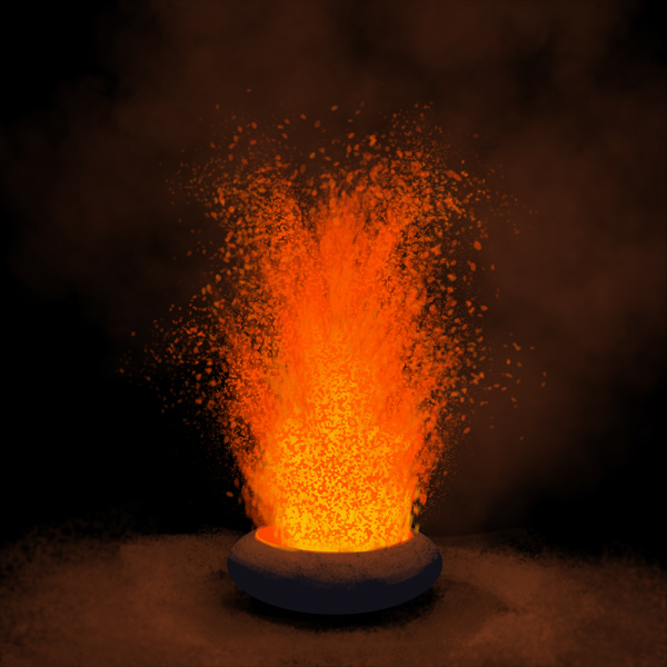 How to paint lava eruption photoshop digital 20