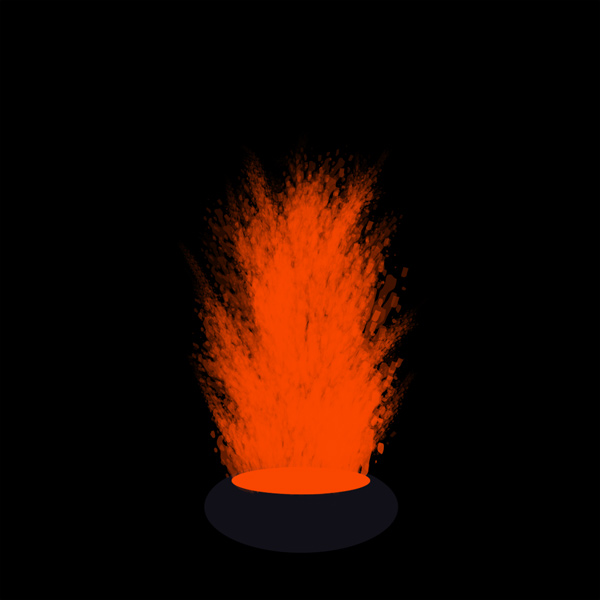 How to paint lava eruption photoshop digital 5