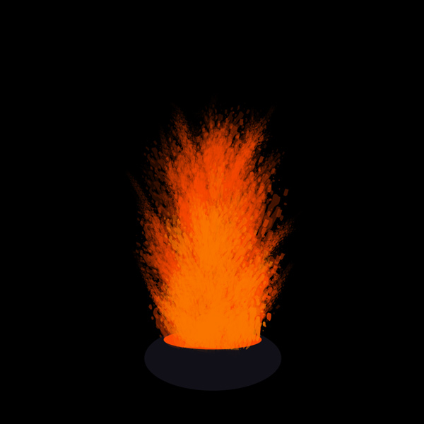 How to paint lava eruption photoshop digital 6