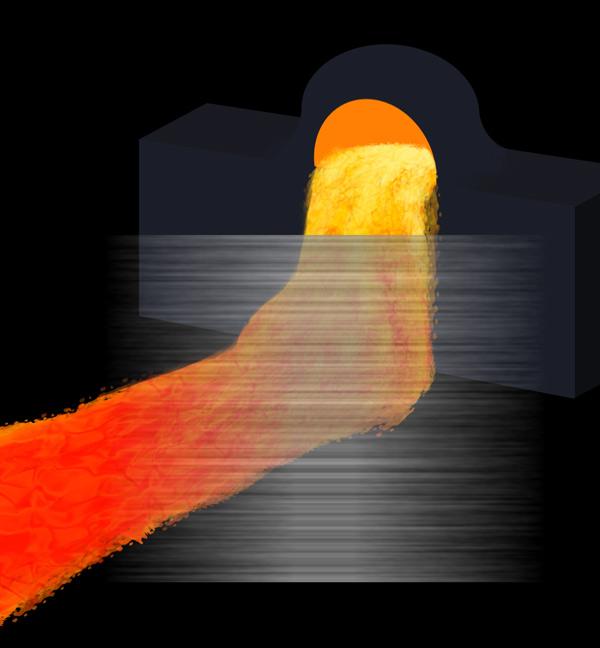 How to paint lava flow river lake photoshop digital 10