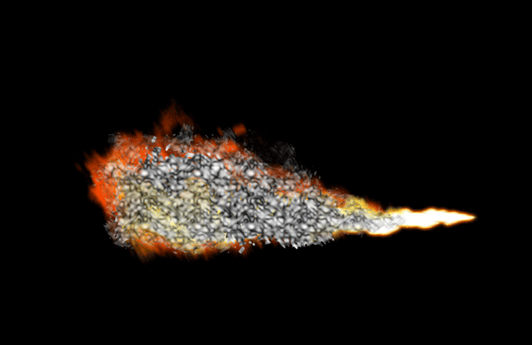 How to paint flamethrower fire dragon photoshop digital 14