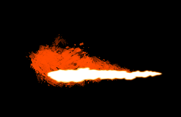 How to paint flamethrower fire dragon photoshop digital 6