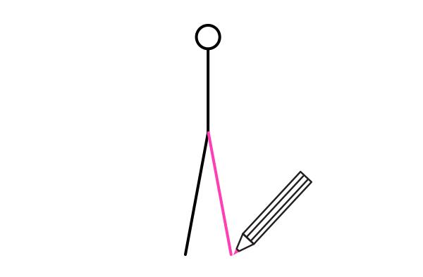 how to draw stick figure stickman tutorial legs feet 2