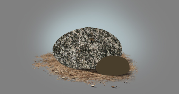 photoshop paint stone flat texture