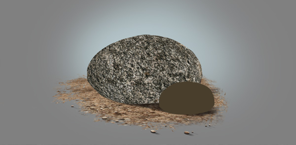 photoshop paint stone tetxure resized