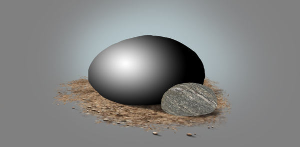 photoshop paint stone shadin effect