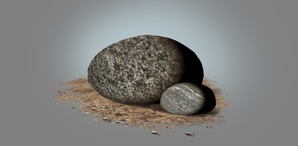 photoshop paint stone tetxure shading effect