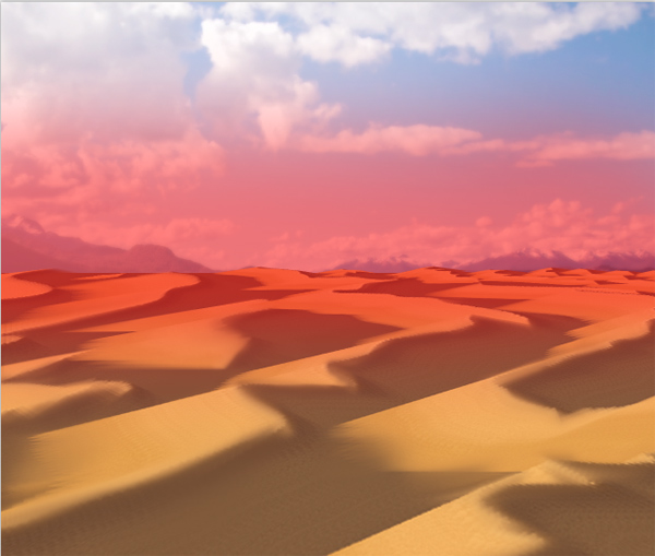 photoshop paint desert brush dune aerial perspective