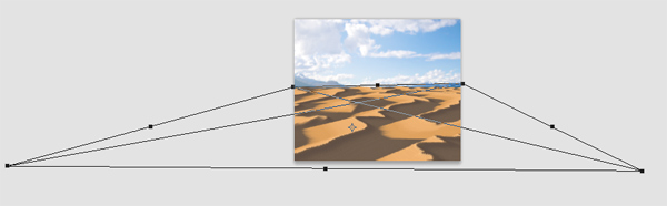 Photoshop da pintura do deserto escova dunas perspectiva
