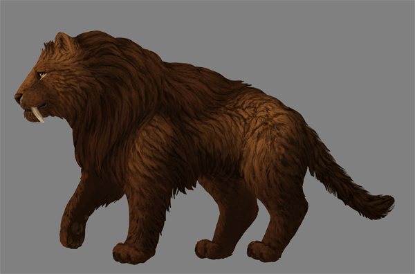 digital painting fur shading colors fix