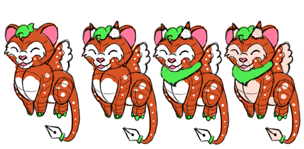 design draw mascot soft cute colorful
