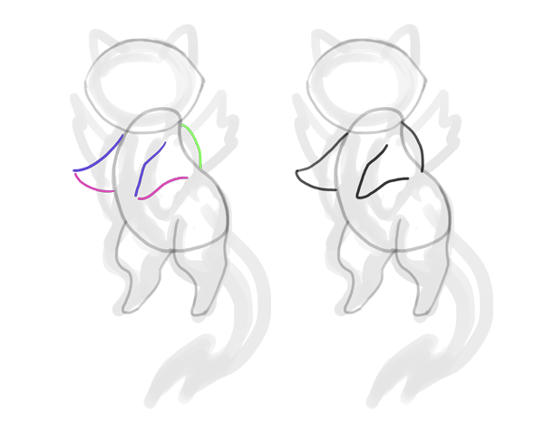 design draw mascot shoulder cat