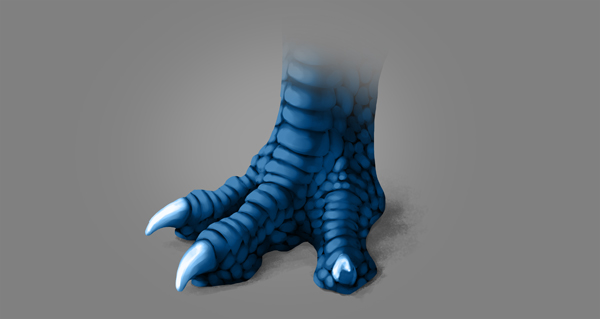 photoshop dragon claw foot blue shadow blend mode