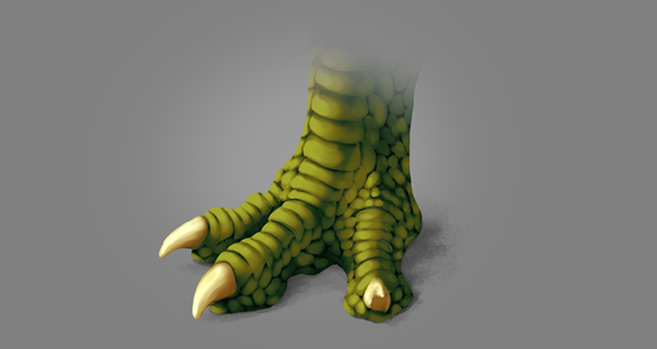 photoshop dragon claw foot warm light blend mode