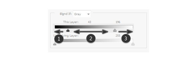 blend if how to use slider how they work