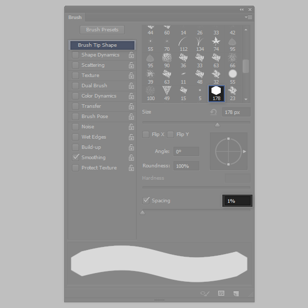 photoshop how to create a block brush settings