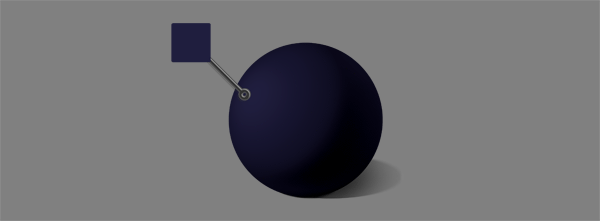 how to shade black white blue ball diffuse reflection