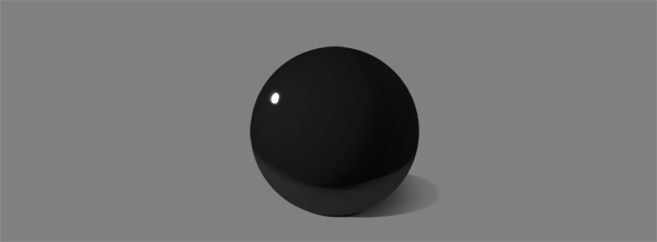 how to shade black white glossy shiny specular reflection