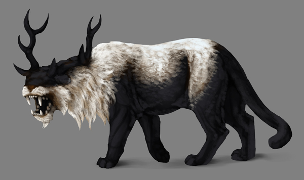 how to paint black white photoshop black fur basic shading