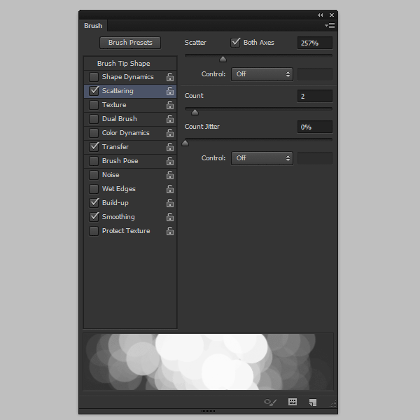 photoshop create cloud brush scattering