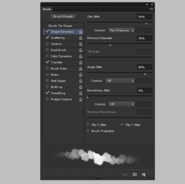 photoshop create cloud brush fluffy shape dynamics