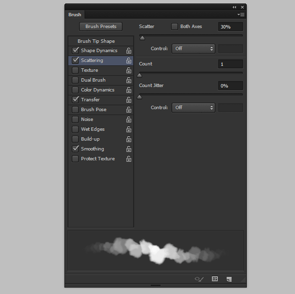 photoshop create cloud brush fluffy scattering