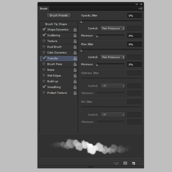 photoshop create cloud brush fluffy transfer
