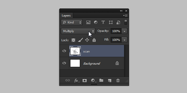 photoshop line art multiply mode
