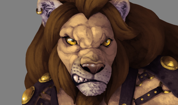 photoshop lion eyes
