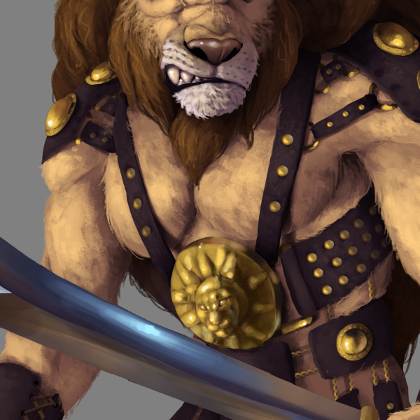photoshop painting ur lion