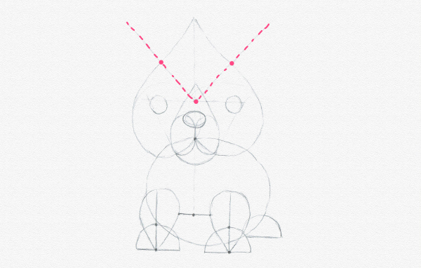 how to place ears properly symmetry drawing