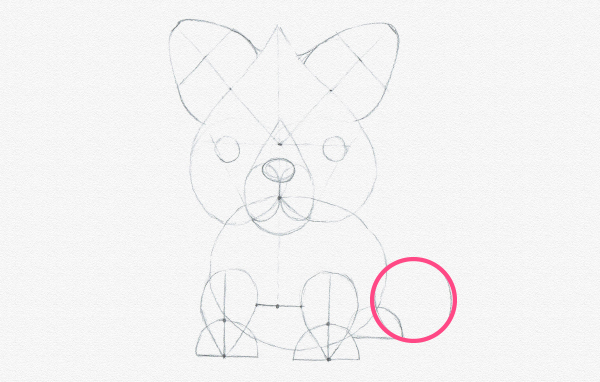 how to draw fox tail cartoon