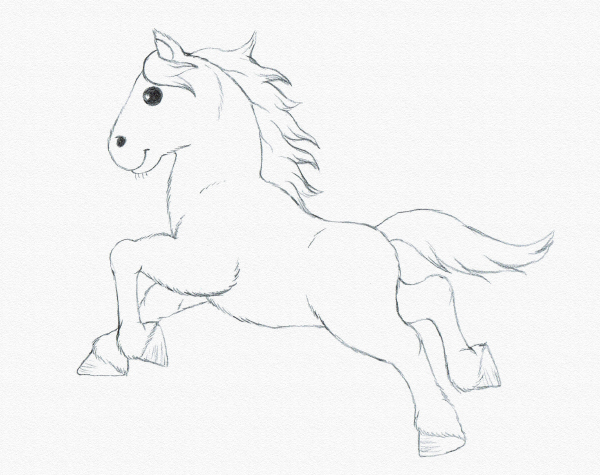 Drawing for Kids: Draw a Running Pony