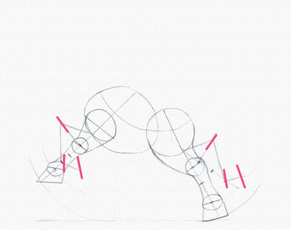 draw a pony legs bend width