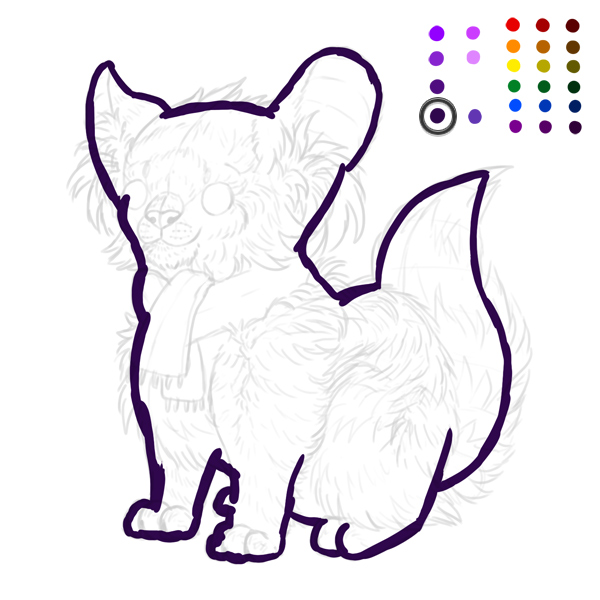 digital painting creature outline