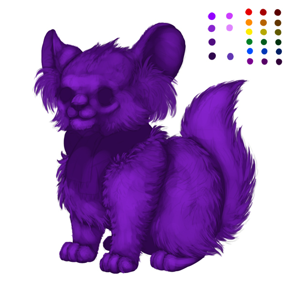 digital painting creature fur blending