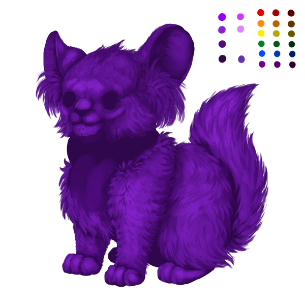 digital painting creature fur shadow