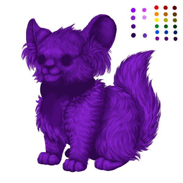 digital painting creature fur light
