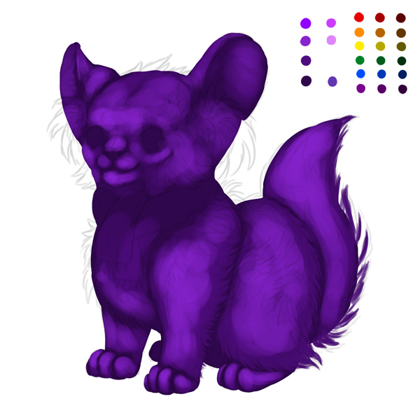 digital painting creature start fur