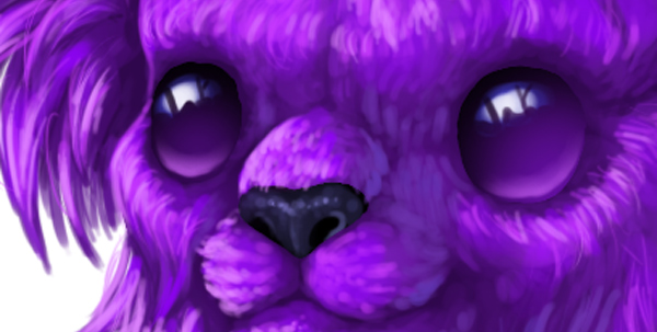 digital painting creature eyes smoothen cute