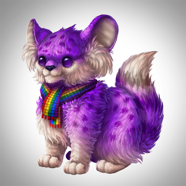 digital painting creature fur markings hair