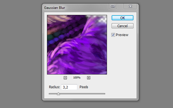 digital painting creature gauusian blur