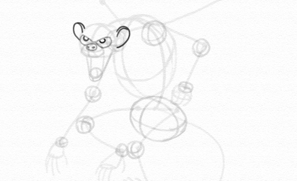 draw monkey ears eyes