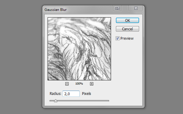 how to add blur focus drawing photoshop gaussian blur