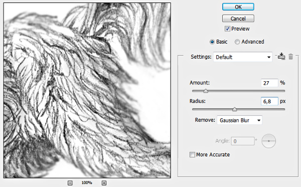 how to sharpen drawing photoshop smart sharpen